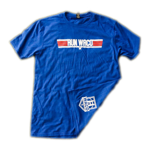 WRC Top Run Shirt - Red / White / Blue