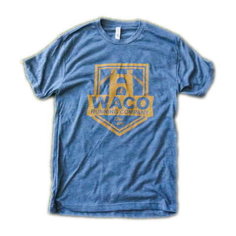 WRC INDIGO AND GOLD SHIELD LOGO SHIRT