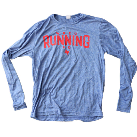 WRC Long Sleeve Tech Shirt - Heathered Blue / Red
