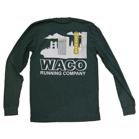We Run Waco Skyline LS Shirt - Green