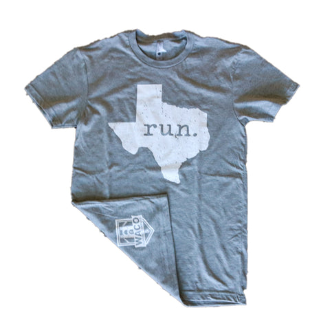 WRC Run Texas Tee - Grey