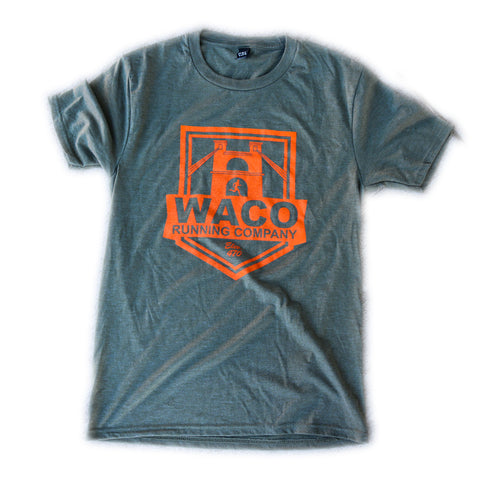 WRC GREEN AND ORANGE SHIELD LOGO SHIRT