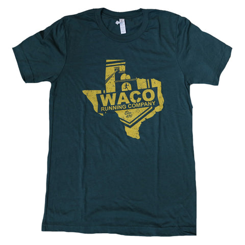 Texas WRC Shield Logo Shirt - Green / Gold
