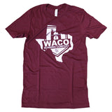 Texas WRC Shield Logo Shirt - Maroon / White