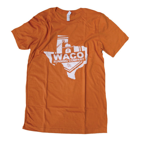 Texas WRC Shield Logo Shirt - Burnt Orange / White
