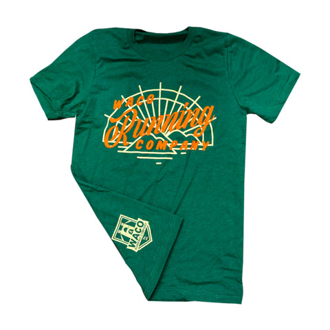 WRC Sunset Tee - Green / Yellow / Orange