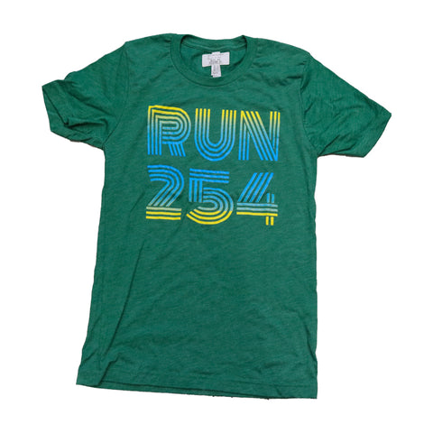 WRC RUN 254 TEE - Green / Yellow / Blue Fade