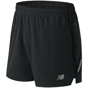 "Men's New Balance Impact 5"" Run Short - Black"