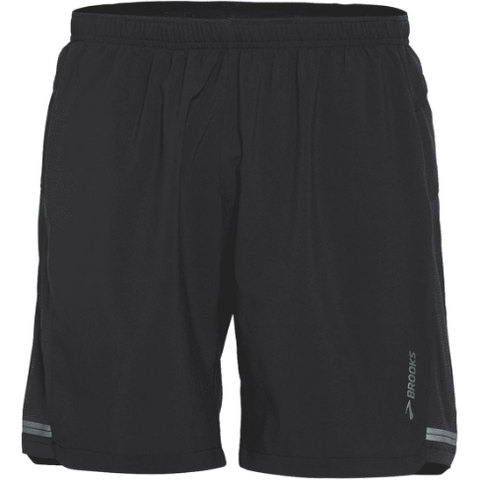 "Men's Brooks Sherpa 7"" 2-In-1 Shorts - Black"