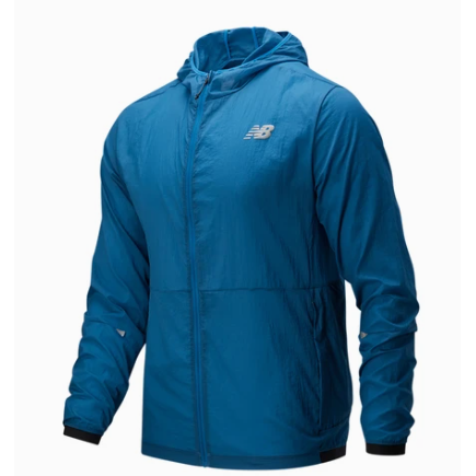 Men's New Balance Impact Light Pack Jacket - Mako Blue