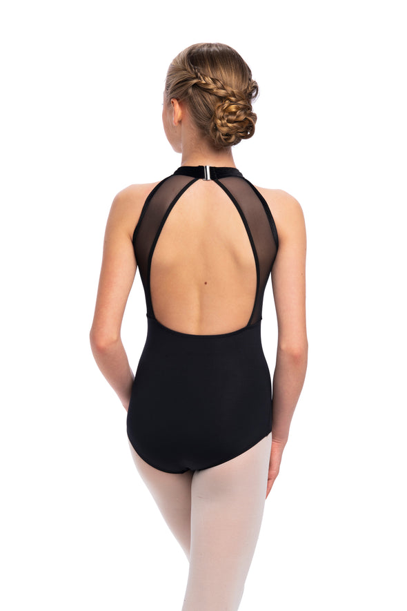 AinslieWear Girls Vera Leotard with Velvet