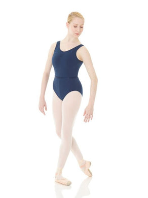 a9819927b Mondor Cotton Pinch Front Tank Leotard 1633