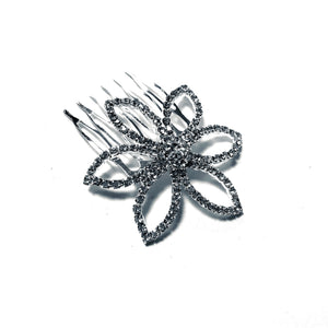 FH2 Rhinestone Flower Hair Comb