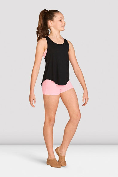 Bloch Girls Mesh Tie Back Tank Top