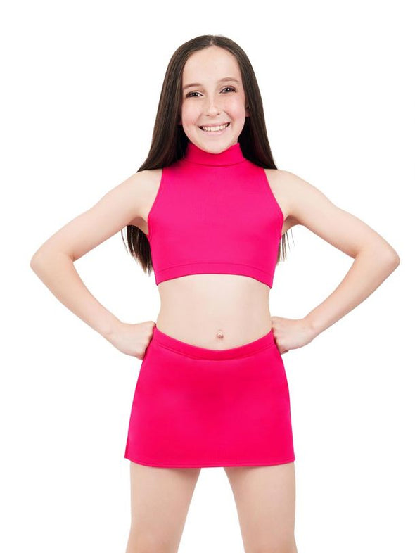 Capezio Girls Team Basics Mock Neck Top