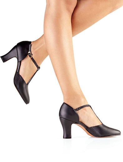 "So Danca 2.5"" Leather T-Strap Character Shoe CH56"
