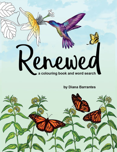 Renewed:<br><small>A Colouring Book and Word Search</small>