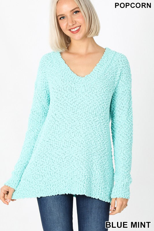 Mint To be Popcorn Sweater
