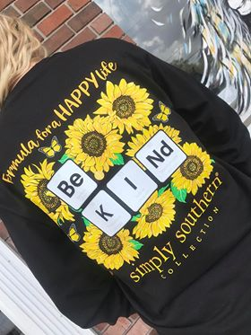 SImply Southern Be Kind Sunflower Long Sleeve