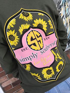 Simply Southern Bloom Sunflower Long Sleeve