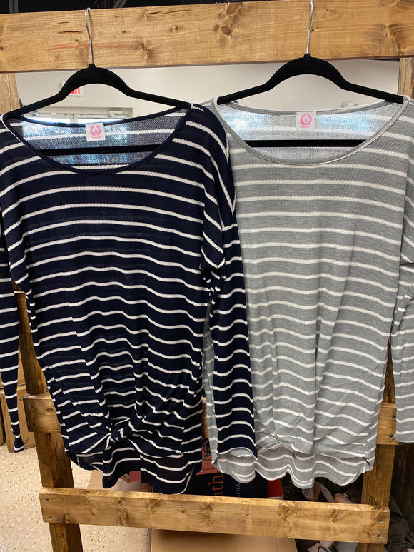 Striped Long Sleeve Knot