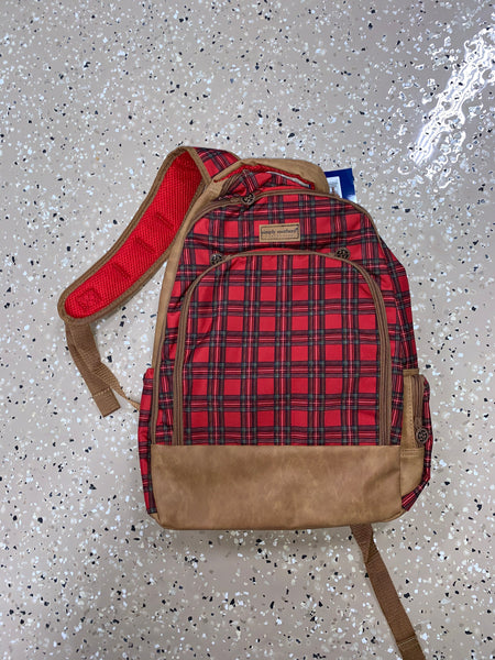 Plaid Backpack