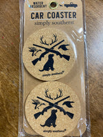 Simply Southern Cork Car Coasters