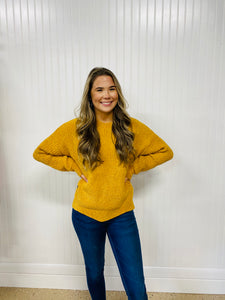 Simply Southern Wave Sweater Mustard