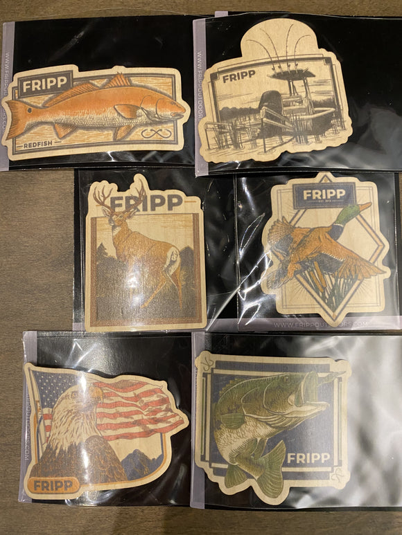 Fripp Wood Stickers