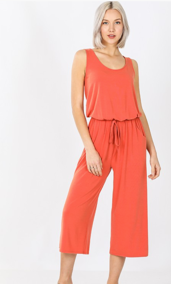 Jumping Into Summer Jumpsuit Plus
