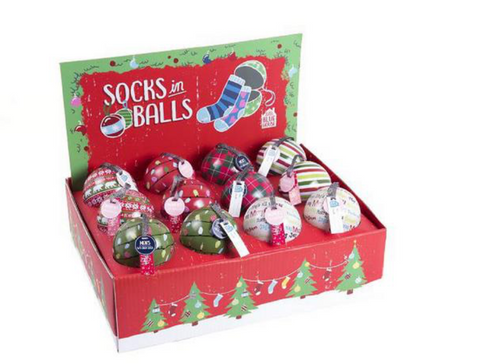 Socks in Balls Ornaments: Womens