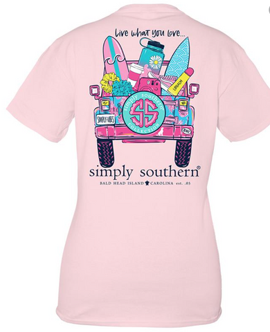Simply Southern Live What You Love Shirt Youth
