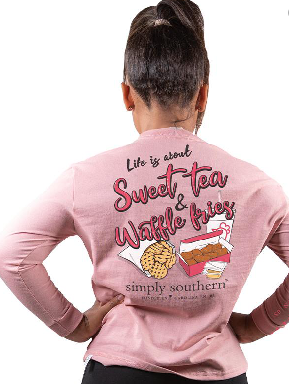 Simply Southern Sweet Tea & Waffle Fries Youth Long Sleeve