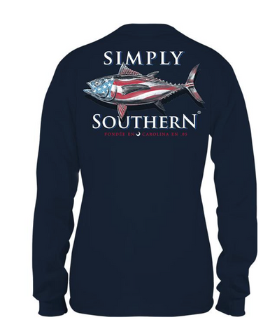 Simply Southern Fish USA Guys Youth Long Sleeve