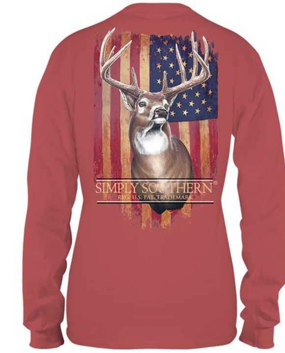 Simply Southern Deer Guys Youth Long Sleeve