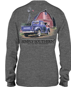Simply Southern Truck Barn Guys Youth Long Sleeve