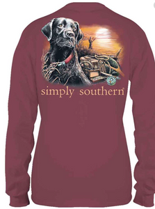 Simply Southern Dog Lake Guys Youth Long Sleeve
