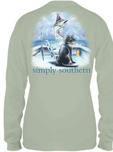 Simply Southern Guys Boat Long Sleeve