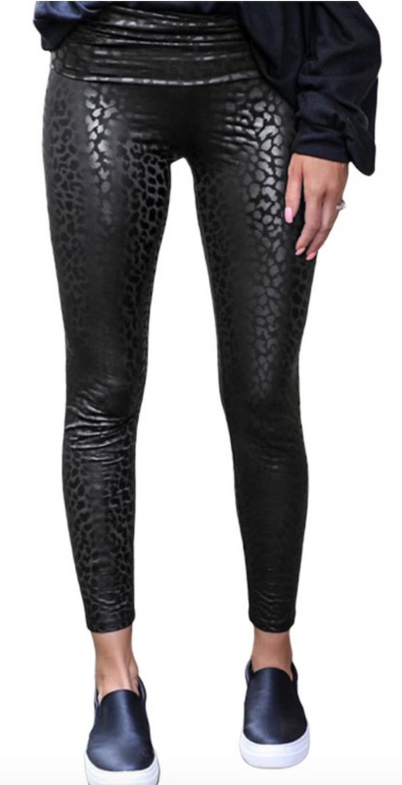 I Wanna Rock & Roll All Night Leopard Leggings