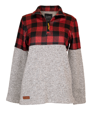 Simply Southern Buffalo Plaid Pull Over