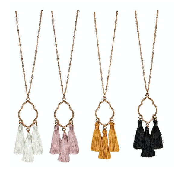 Simply Southern 3 Tassel Necklace