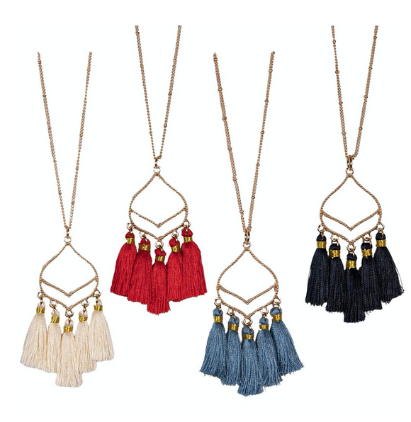 Simply Southern 5 Tassel Necklace