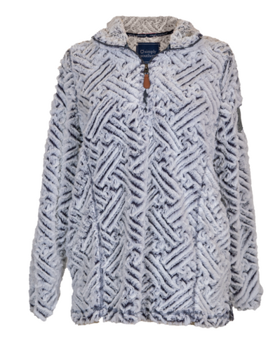 Simply Southern Weave Quarter Zip Pull Over