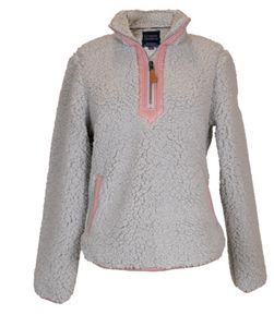 Simply Southern Pull Over Sherpa Gray