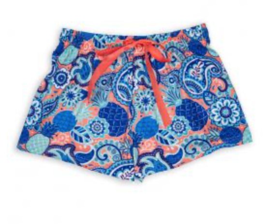 SS Lounge Shorts in Bag: Paisley