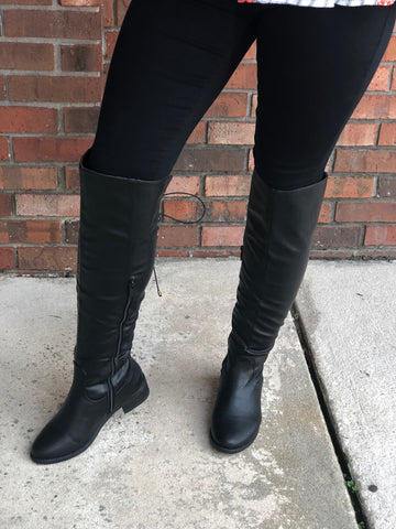 Give Me All The Details Boots - Black
