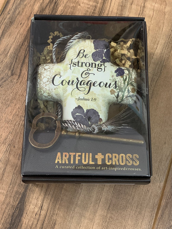 Be Strong & Courageous Cross