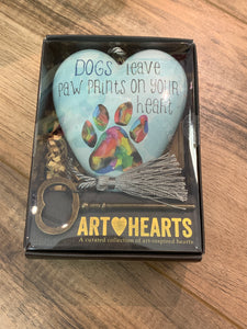 Dogs a leave Paw Prints Heart