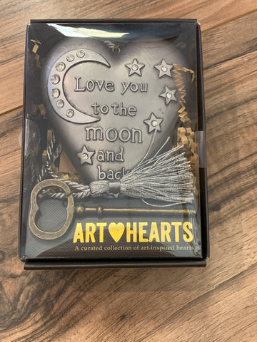 Love you to the Moon heart