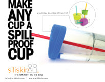 Siliskin Cup Cover with Straw